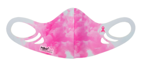 MF6 Antimicrobial Spacer Face Mask - Pink Ribbon Watercolor
